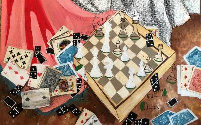 Slika 11 Anja Terbovc, Šah, akril, 50 x70 cm, Slikarstvo I (Krašna)