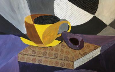 Slika 14 Mischela Žižek, Kubistično tihožitje, mešana tehnika, 50 x 70 cm, (Krašna)