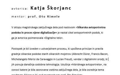 Digitalno telo, Katja Škorjanc, mentor red. prof. Oto Rimele