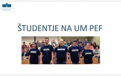 Študentje na UM PEF