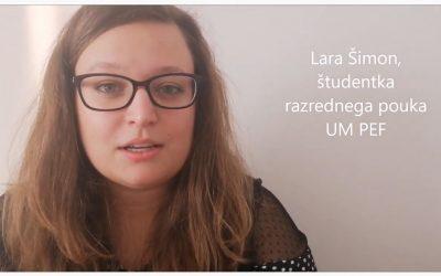 Lara Šimon, študentka razrednega pouka