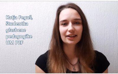 Katja Feguš, študentka glasbene pedagogike