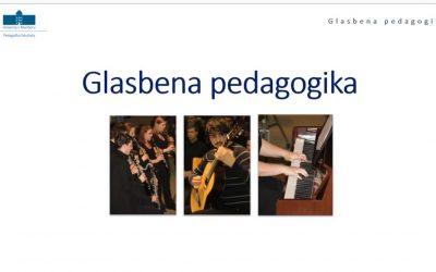 Predstavitev študijskega programa Glasbena pedagogika