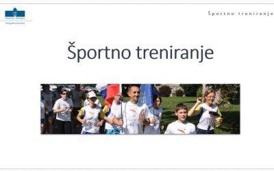 Predstavitev študijskega programa Športno treniranje